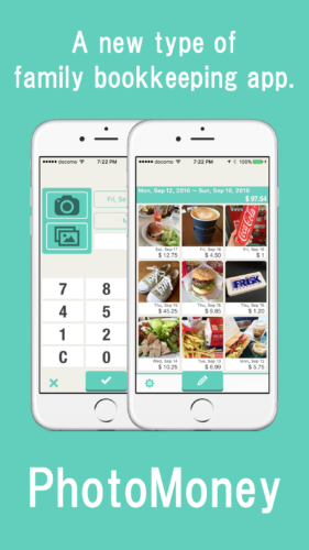 A new type of family bookkeeping app that takes photos to record expenses-PhotoMoney.